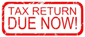 Tax Return Due Now