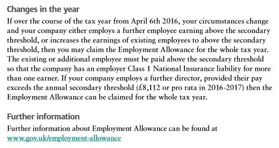employment allowance