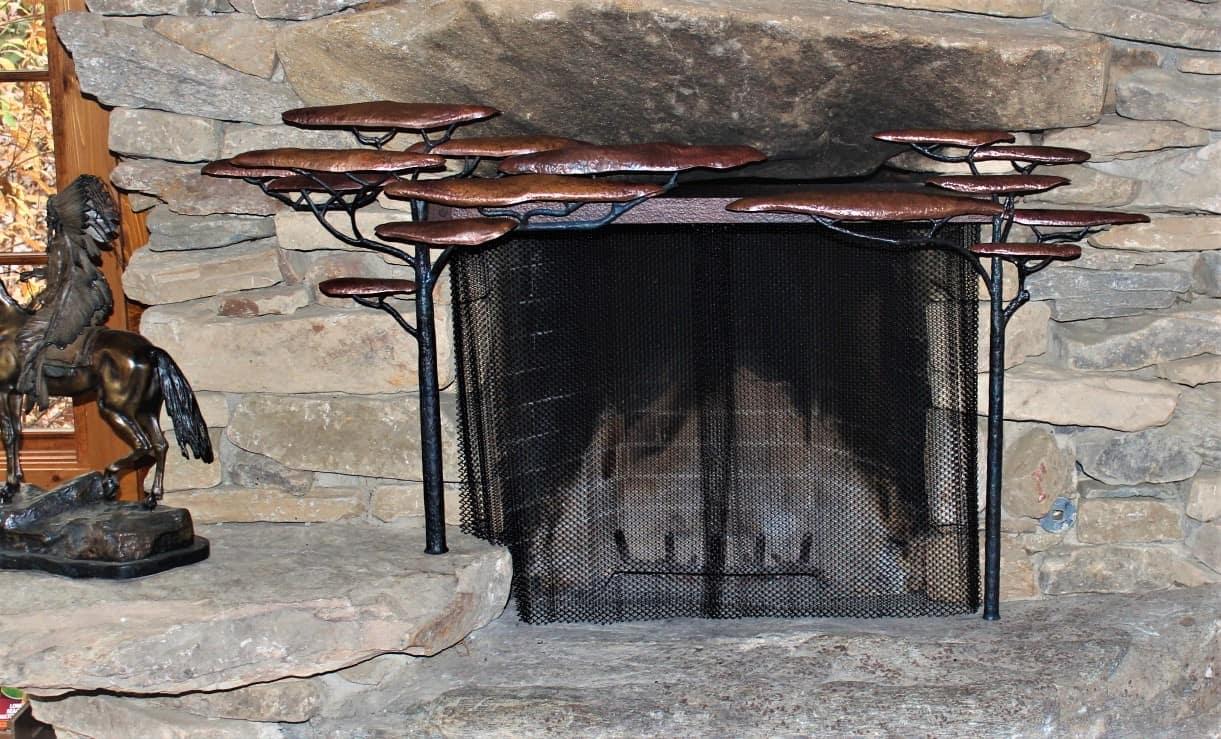 kleiber steel mesh fireplace curtain panels