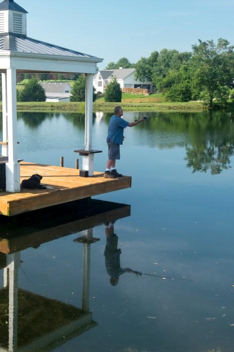 Marty fishign near Louisville