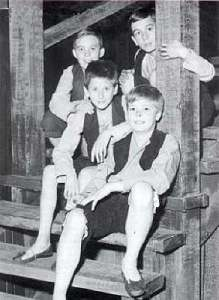 Steve Marriott with the cast of Oliver