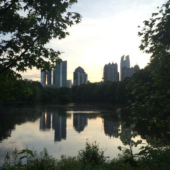 A view of Piedmont Park during the McKenzie's evening walk.