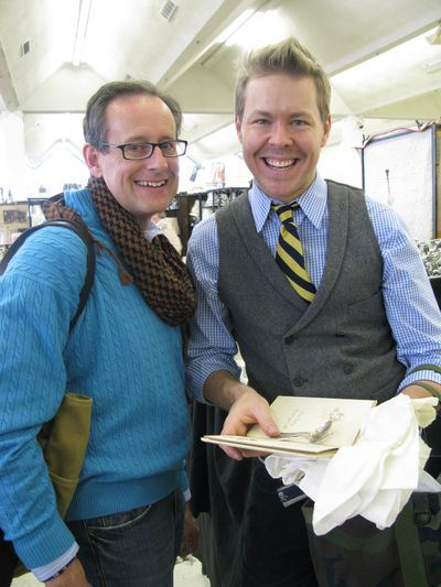 Steve with Eddie at Scott's Antique Market, on a previous visit.