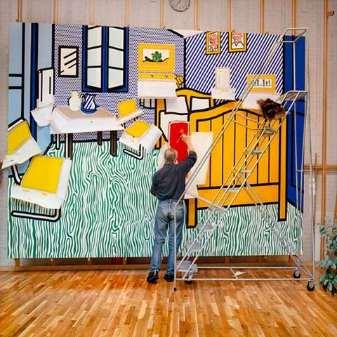 Roy-Lichtenstein-studio5