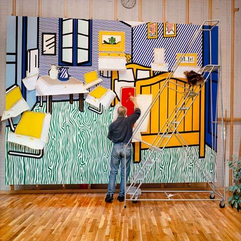 Roy-Lichtenstein-studio5