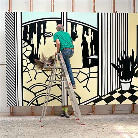 Roy-Lichtenstein-studio7
