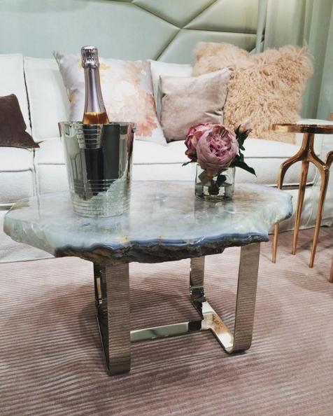 Amazing table by Rablabs in the Habachy Designs space - photo by Rablabs