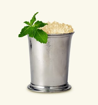 A classic mint julep cup by Match Pewter - use for cocktail hour, a petite vase, or even utensil holder for your buffet!