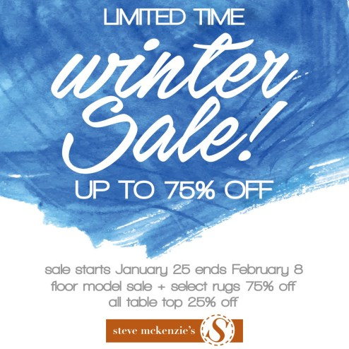 steve mckenzie's winter sale