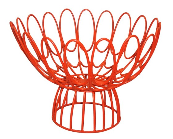 Florence Broadhurst Floral Wire Bowl - available in red, blue and verbena.