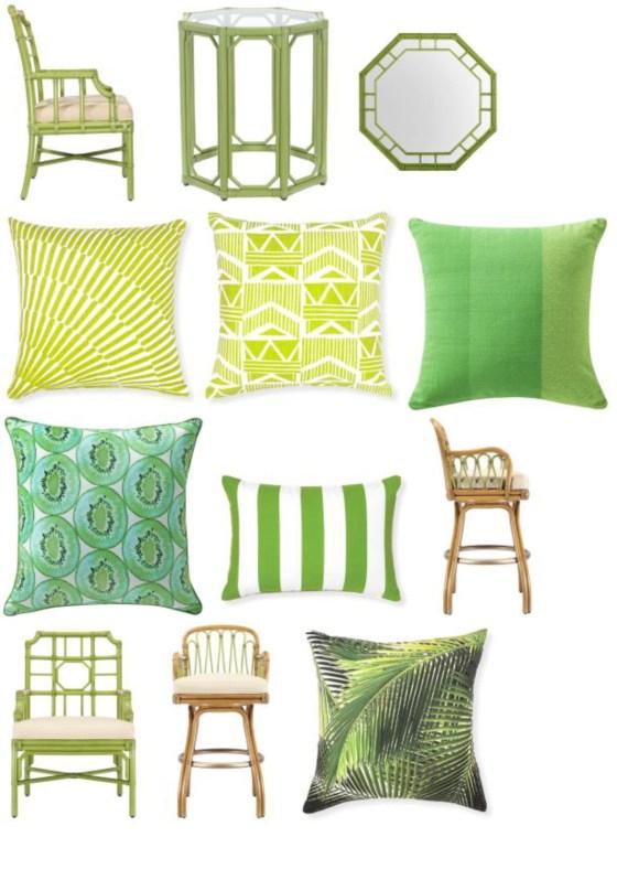 pillows chairs green