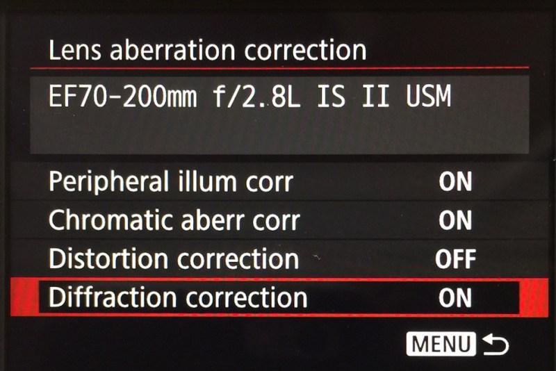 Lens Aberration Correction_Canon 1dX mark II