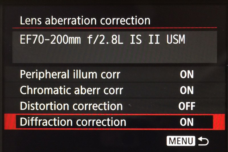 Lens Aberration Correction_Canon 1dX mark II