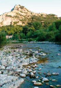 Fig. 8. Gardon d'Anduze, Gard, France, where the Barred grass snake (Natrix helvetica) and the Viperine snake (Natrix maura) were found. (Picture Paul Storm, 2011).