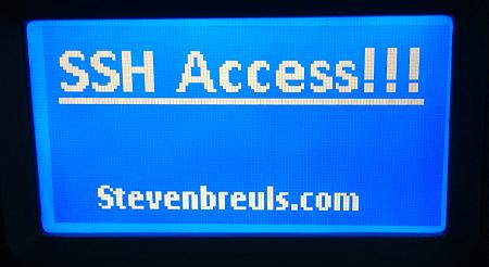IOmega / Lenovo NAS SSH access LCD