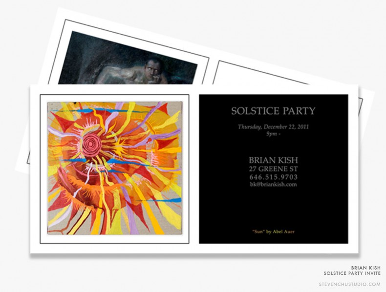 Brian Kish - Italian Design Dealer - Solstice Party Invite 2011
