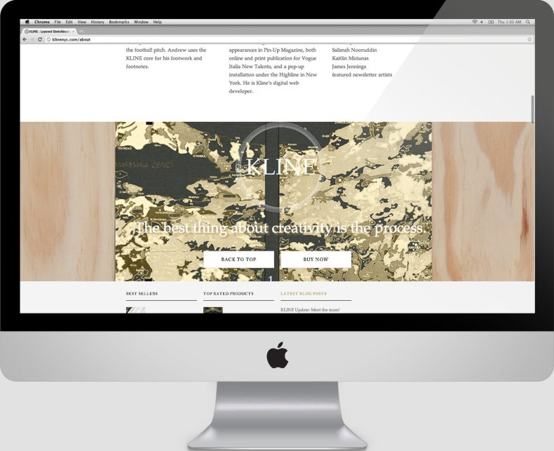 Kline NYC - Ecommerce Website - One Pager