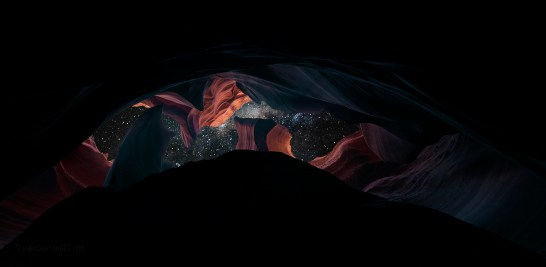 Stars in Antelope Canyon Space Bacon