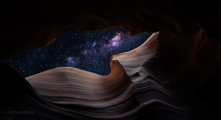 Stars in Antelope Canyon
