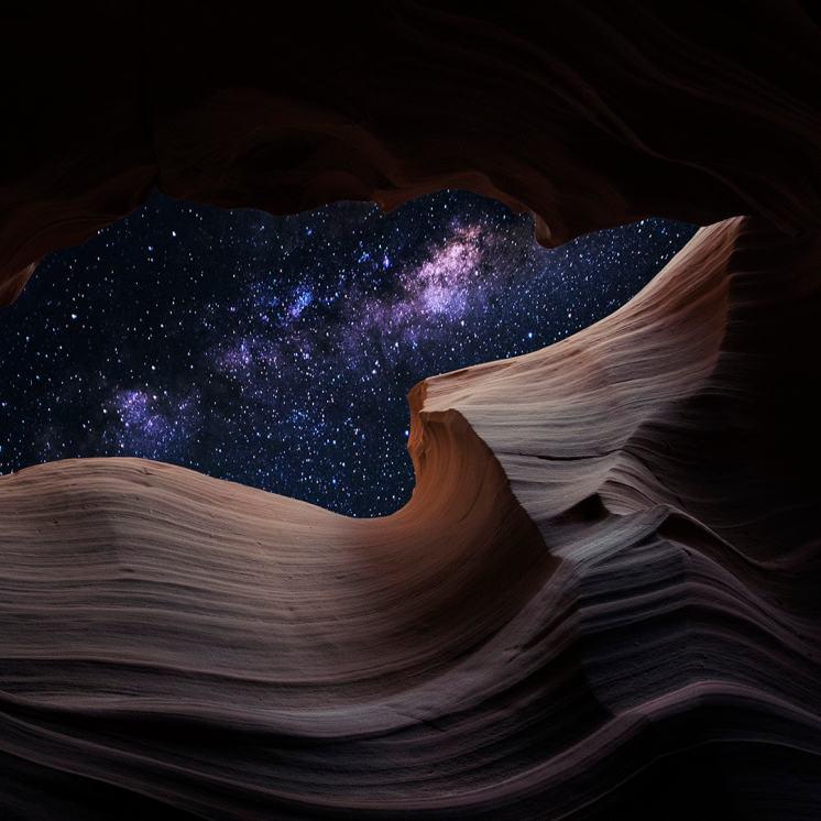 Stars in Antelope Canyon