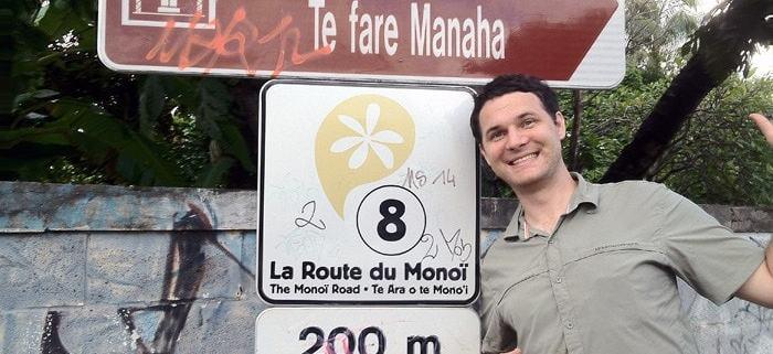 Steven Duncan in front of a sign