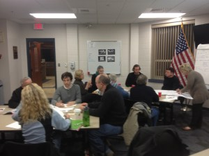 FabNewport Volunteers at Strategic Planning Session on 1/21/13