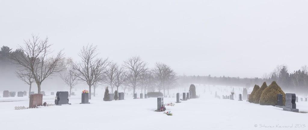 Winter fog over graves - Steven Kennard 2013