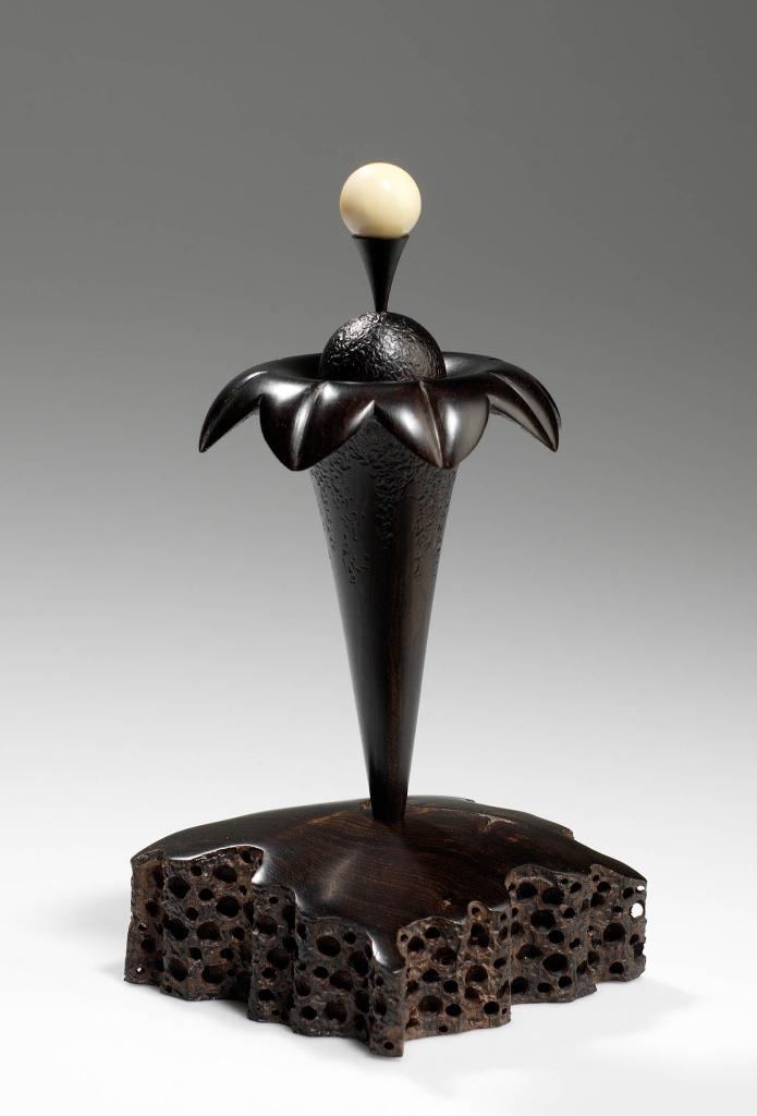 Golfer's Dream #2 - African blackwood, tagua nut - Steven Kennard SOLD