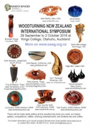 New Zealand Woodturning Poster Symposium 2016