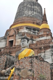 You get a great view of the area climbing up this stupa.