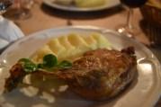 I had the plat du jour of duck confit. 13€!