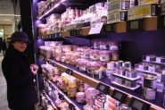 Just some (about half) of the foie gras selection. Paris isn't a great vegetarian city.