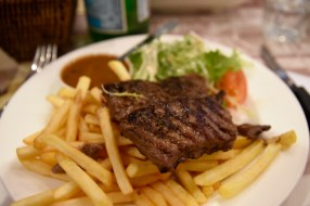 The traditional steak frites at Cafe du Metro. I made it a point to try as many traditional French dishes as possible.