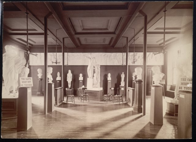 Gallery of Classical Antiquities, Brown University, about 1893. No longer in existence. Collections apparently lost.