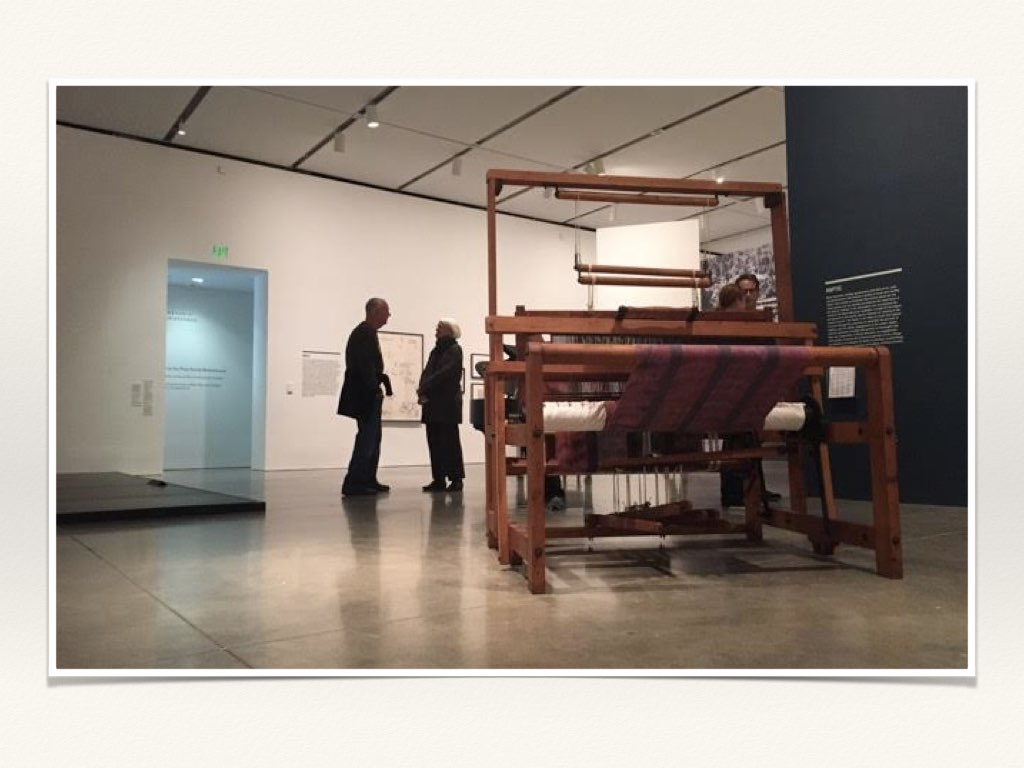 loom from the black mountain school displayed at institute of contemporary art boston photo courtesy elizabeth crawford