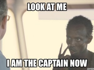 I am the captain now