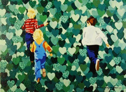 field of hearts limited edition giclee on canvas by Steven Ray Miller Durham NC artist
