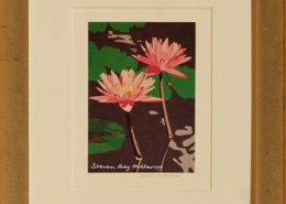 hawaiian lily pond Framed mini by Steven Ray Miller Durham NC artist