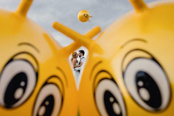 heaton house wedding photographer, space hopper photo
