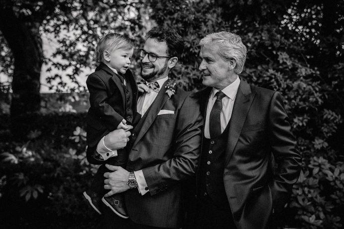 little boy, dad and grandad