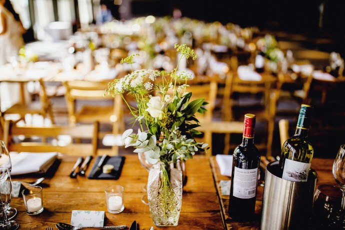 table decor, centrepieces, flowers, rustic