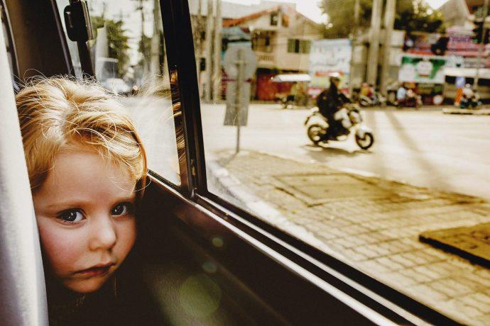 oli on the minibus