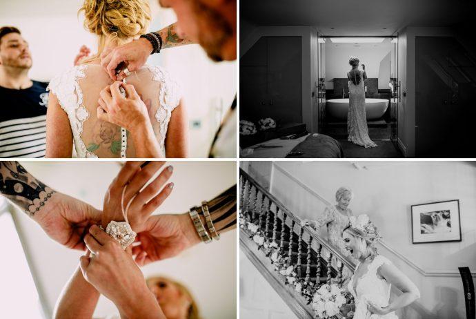 wedding jewellery and dress