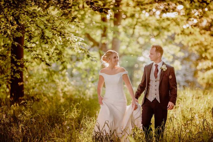 meols hall wedding photography, woods, natural light, journalistic
