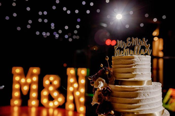 cake, dance floor, evening reception