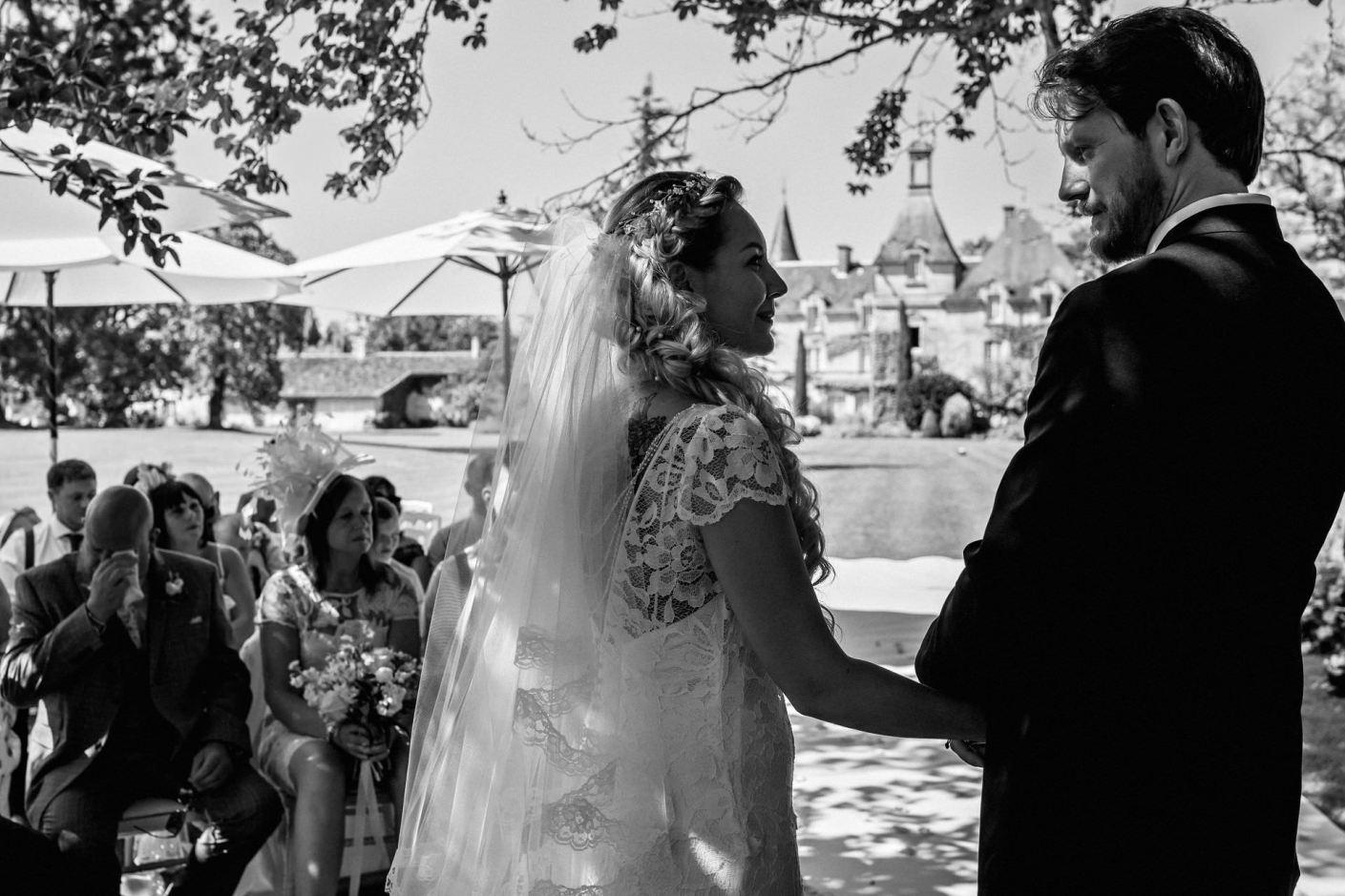 photography fro the wedding at Chateau Le Mas de Montet