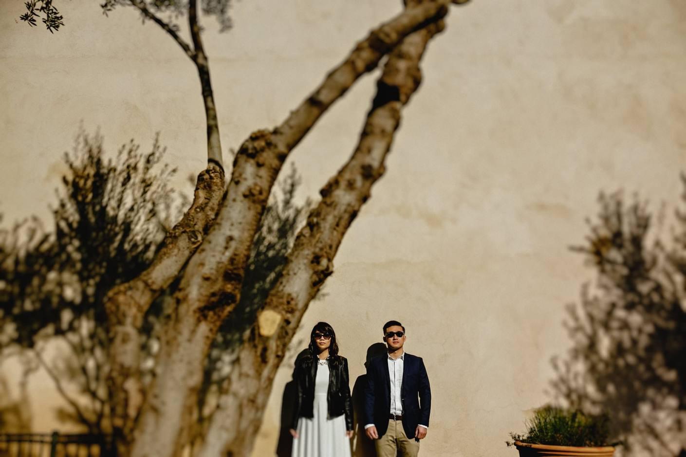 bride and groom portrait at le jardin secret