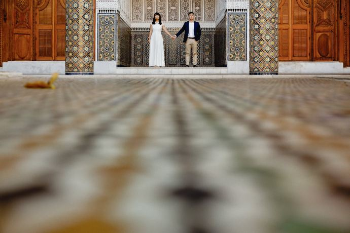tiled courtyards and riads in marrakech