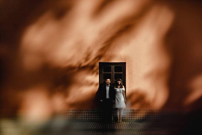 palace wedding photograph in marrakech, Morocco