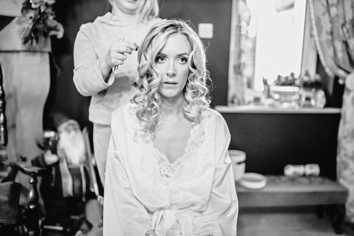 bridal preparations at home